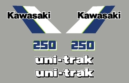 1984 Kawasaki KX 250 Decal Kit