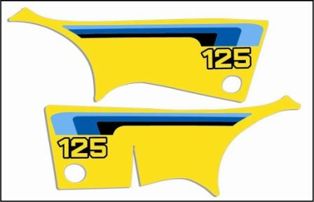 1980 Suzuki RM 125 Side Panel Decals
