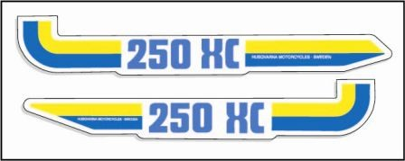 1983 Husqvarna 250 XC Side Panel Decals