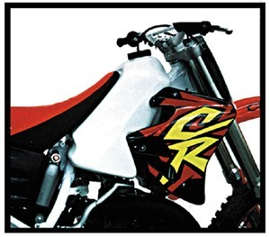 1992-1996 Honda CR 125 ; 93-97 CR 125 Gas Tank White