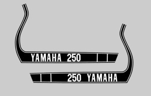 1974 Yamaha MX 250 Tank Decals