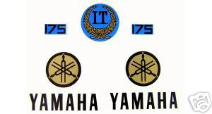1977 Yamaha IT 175 Tank & Side Panel Decal Kit