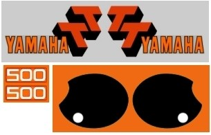 1977 Yamaha TT 500 Decal Kit