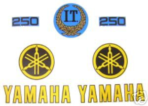 1978 Yamaha IT 250 Tank & Side Panel Decal Kit