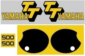 1978 Yamaha TT 500 Decal Kit