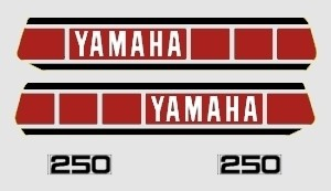 1978 Yamaha YZ 250 Euro Decal Kit