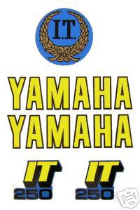 1979 Yamaha IT 250 Tank & Side Panel Decal Kit