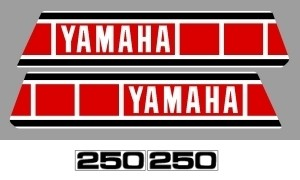 1979 Yamaha YZ 250 Euro Decal Kit
