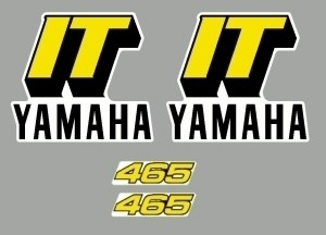 1981 Yamaha IT 465 Tank & Side Panel Decal Kit