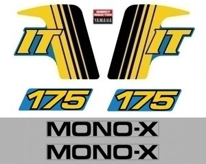1982 Yamaha IT 175 Decal Kit