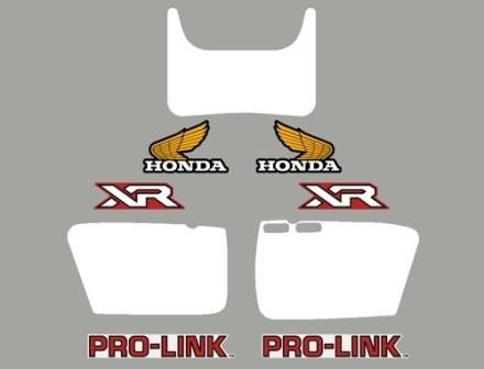 1982 Honda XR 500R Decal Kit