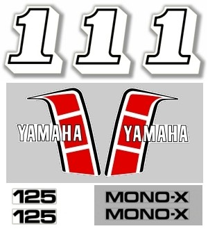 1982 Yamaha YZ 125 Euro Decal Kit