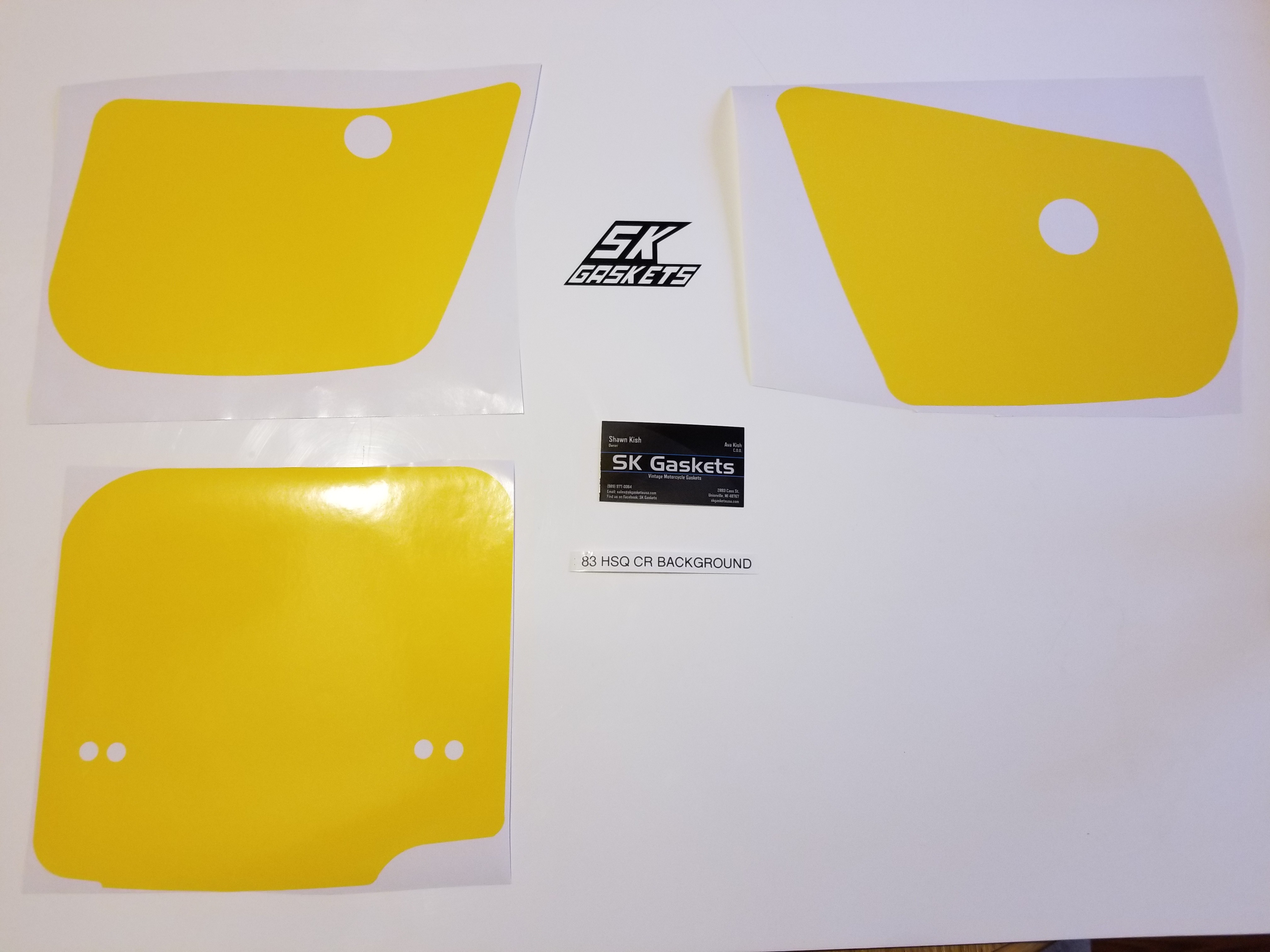 1983 Husqvarna CR XC 125 250 500 Number Plate Backgrounds
