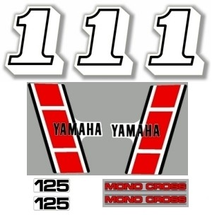 1983 Yamaha YZ 125 Euro Decal Kit