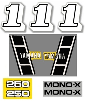1983 Yamaha YZ 250 Decal Kit