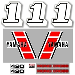 1983 Yamaha YZ 490 Euro Decal Kit