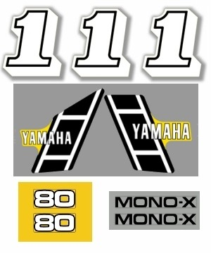 1983 Yamaha YZ 80 US Decal Kit