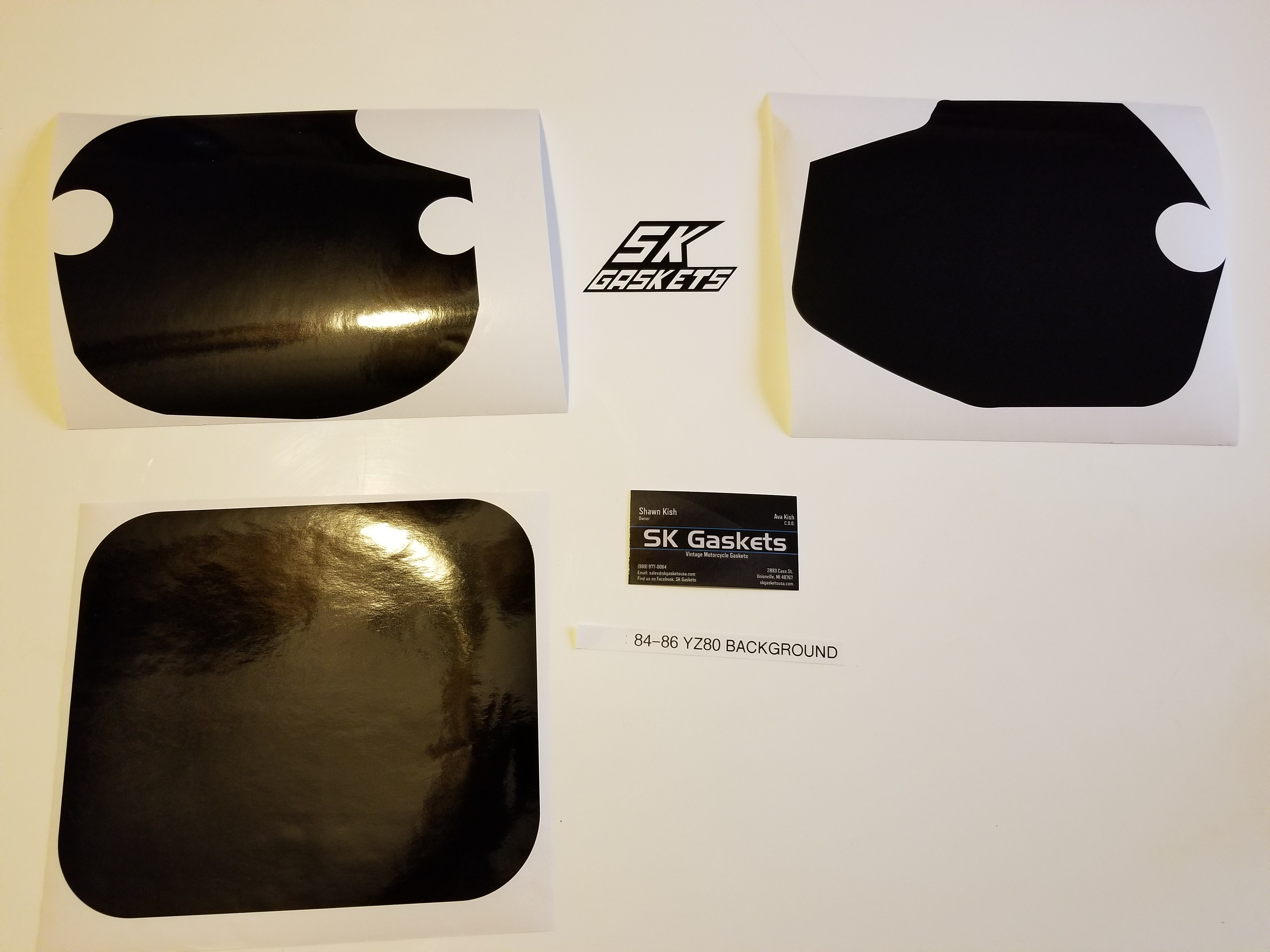 1984 1985 1986 Yamaha YZ 80 Number Plate Backgrounds Black