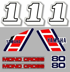 1984 Yamaha YZ 80 Euro Decal Kit