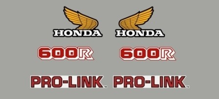 1984 Honda XL 600R Decal Kit