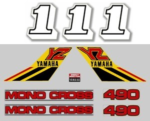 1984 Yamaha YZ 490 Decal Kit