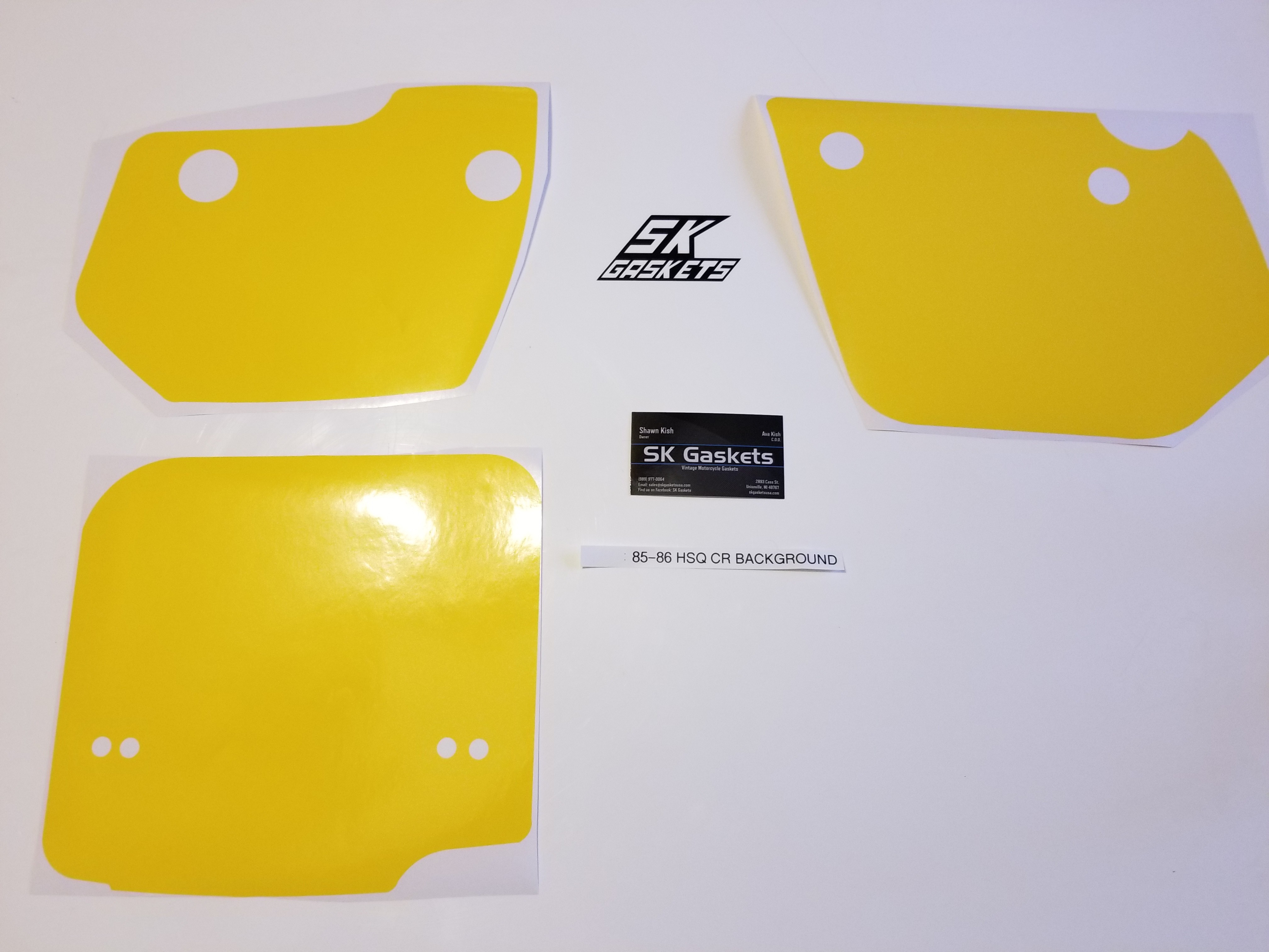 1985 1986 Husqvarna CR XC 125 250 400 500 Number Plate Backgrounds