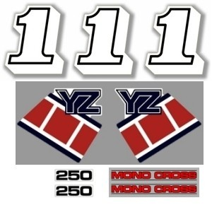 1985 Yamaha YZ 250 Decal Kit