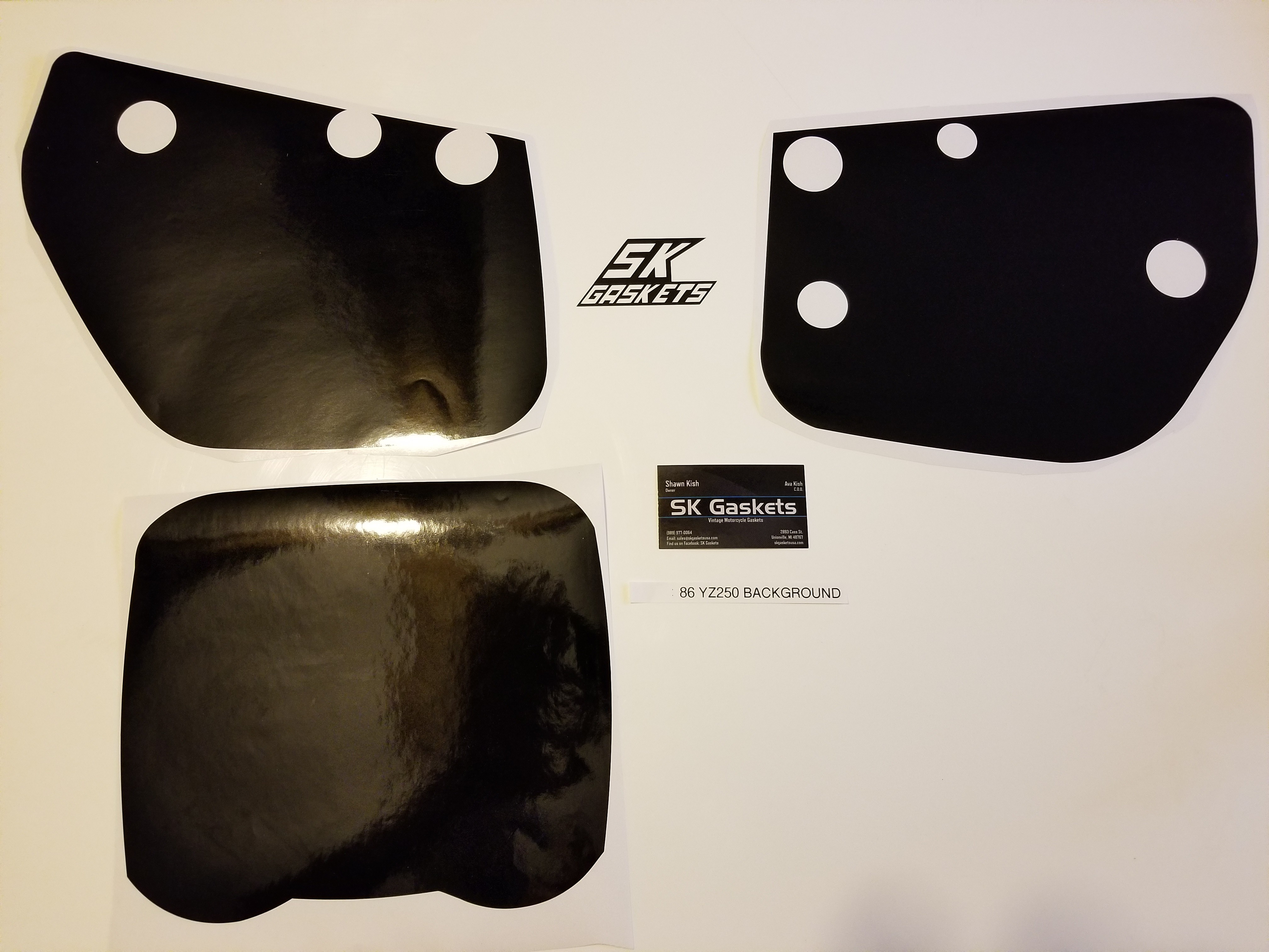 1986 1987 Yamaha YZ 125 250 490 Number Plate Backgrounds
