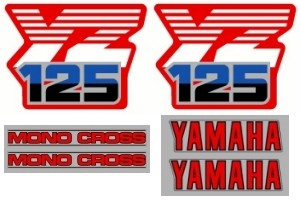 1986 Yamaha YZ 125 Decal Kit