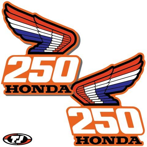 1987 Honda CR 250 Radiator Shroud Decals Die Cut