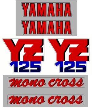 1987 Yamaha YZ 125 Decal Kit