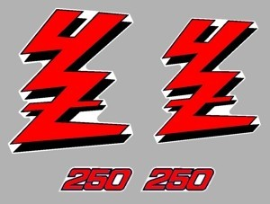 1989 Yamaha YZ 250 Radiator Shroud Decal Graphics