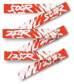 1991 Honda CR 125 250 500 Swingarm Decals - Select a model
