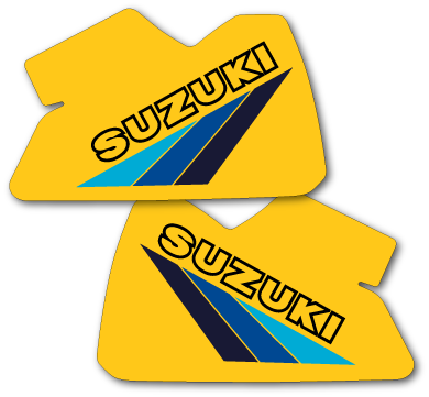 1983 Suzuki RM 500 Tank Decals Full Cover