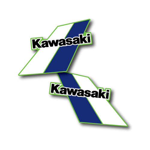 1984 Kawasaki KX 500 Tank Decals Die Cut Perforated