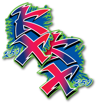 1990 Kawasaki KX 250 Shroud Decals Graphics Die Cut