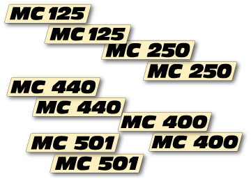 New Reproduction Airbox Decal Pair that fits 1972-1974 Maico