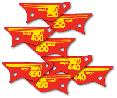 New Reproduction Side Panel Decals that fit 1981 Maico 250 490  Die Cut