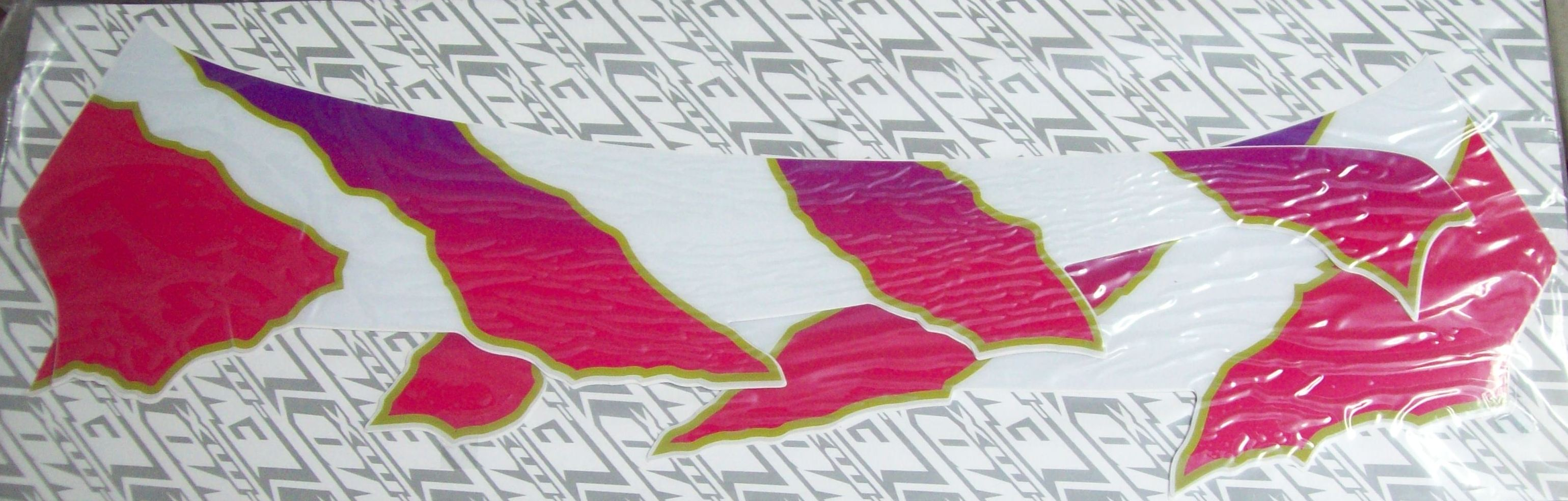 1992 Suzuki RM 250 Rear Fender Decal Stripes White Backing