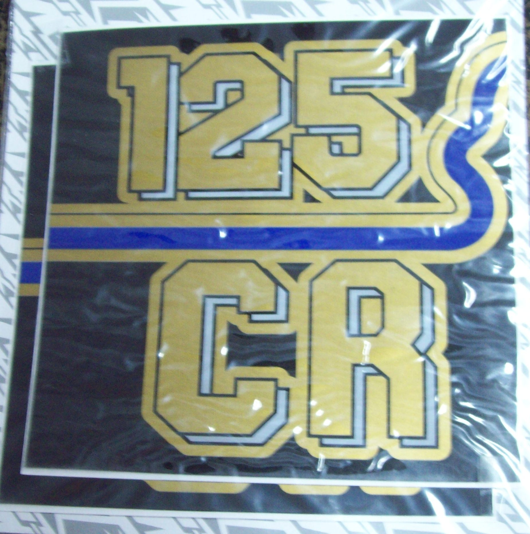 1982 Husqvarna CR 125 Side Panel Airbox Cover Decal Pair