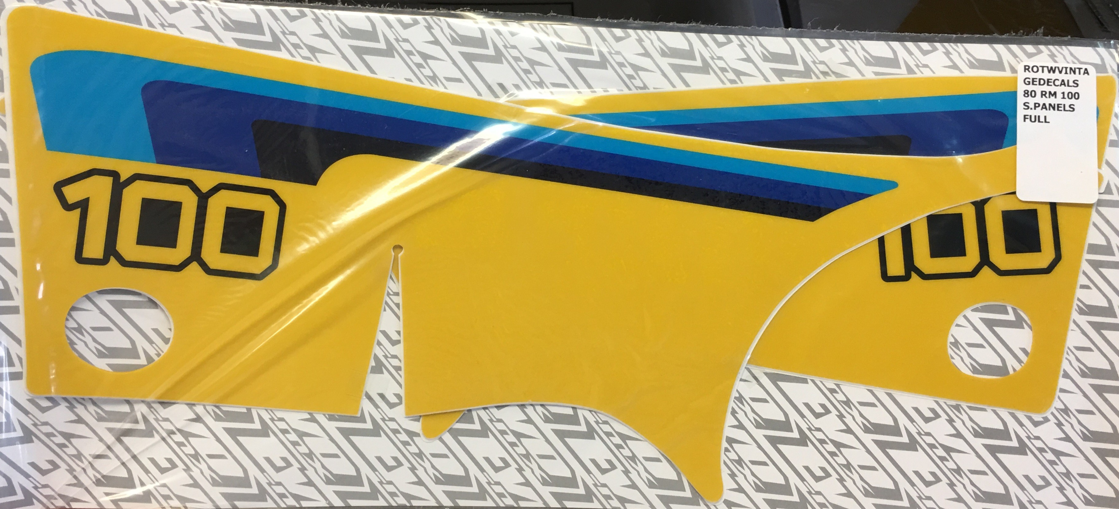 1980 Suzuki RM 100 Side Panel Decals Full Cover