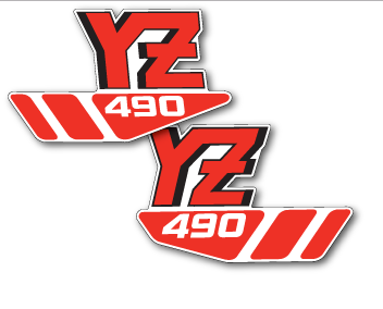 1988 Yamaha YZ 490 Tank Decals Full Cover EVO MX