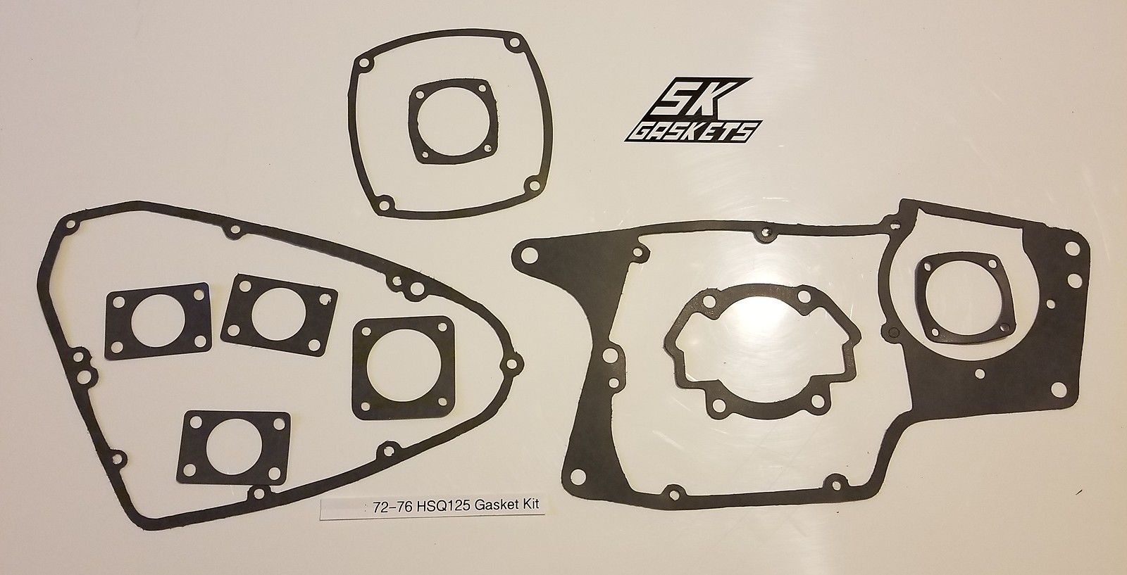 1972 1973 1974 1975 1976 Husqvarna CR WR 125 Complete Engine Gasket Kit