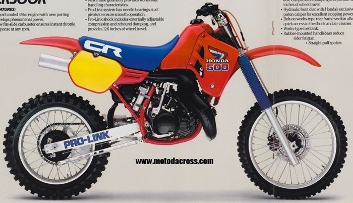 1985 Honda CR 500 Plastic Kit Flash Red