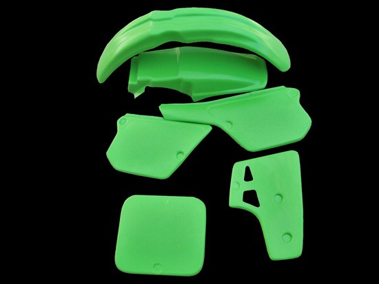 1986 1987 Kawasaki KX 80 Plastic Kit Fenders Side Panels Number Plates