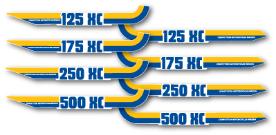 1983 Husqvarna XC 175 Side Panel Decal Stripes