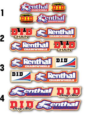 Universal Renthal DID Swingarm Decal Set