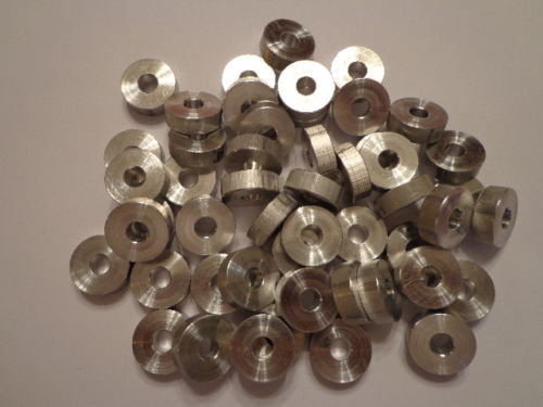 "Round Spacer Washer Aluminum 1/4"" ID x 3/4"" OD x 1/2"" Thick"