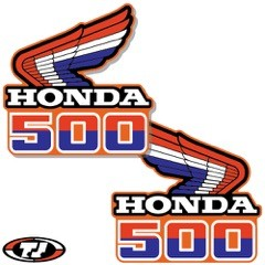 1985 Honda CR 500 Radiator Shroud Decals Die Cut