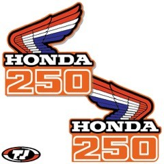 1986 Honda CR 250 Radiator Shroud Decals Die Cut